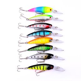 Wholesale Hard Body Lures NZ - Vivid Fish Shape Hard Bait Hollow Body Tight Baits Ultra Far Throw Plastic Fishing Lure Hot Sale 2sb UU
