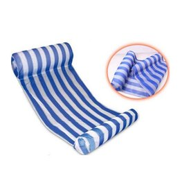 China 2018 3 Colors Summer Swimming Pool Inflatable Floating Water Hammock Lounge Bed Chair Summer Inflatable Pool Float Floating Bed cheap big kids beds suppliers