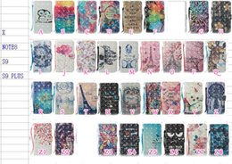 Owl Leather Iphone Case NZ - 3D Dreamcatcher Leather Wallet Case For Iphone X Galaxy S9 Plus Note 8 Butterfly Skull Lace Flower Owl Flip Cover