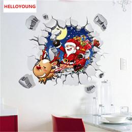 $enCountryForm.capitalKeyWord Australia - Creative personality Santa Claus fake windows Wall Stickers Home Decorative Waterproof Wallpapers