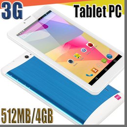 E 7 pollici 3G Phablet Android 4.4 MTK6572 Dual Core 4GB 512 MB Dual SIM GPS Phone Call WIFI Tablet PC Bluetooth B-7PB