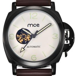 $enCountryForm.capitalKeyWord Australia - MCE fashion skeleton watches sapphire clock men casual automatic mechanical leather wrist watch with original box 338