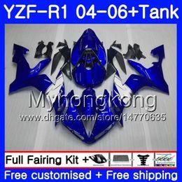 $enCountryForm.capitalKeyWord Australia - Body+Tank For YAMAHA YZF R 1 YZF-1000 YZF 1000 YZFR1 04 05 06 232HM.20 YZF1000 Stock blue white YZF-R1 04 06 YZF R1 2004 2005 2006 Fairing