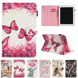 China Wallet Leather Australia - Luxury Flamingos Unicorn Wallet leather card holder Case for ipad Mini 123 4 ipad 234 5 6 New ipad 2017 2018 Samsung Tablet case