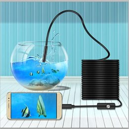 pixel cable NZ - Wholesale-Waterproof Inspection Endoscope Mini Camera AN99a 1 9 CMOS with 2 IN 1 USB Cable 6 LED 1.3Million Pixels for Endoskop Microscopy