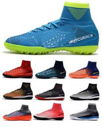 23ba83e32 Cheap Mercurial Superfly V SX Neymar TF Men s Soccer Shoes High Ankle  Magista Obra II ACC Footabll Shoes Men Soccer Boots Zapatos de fútbol
