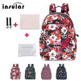 Shoulder Straps Backpack NZ - Insular Fashion Baby Diaper Bag Waterproof Printed Zipper Wide Shoulder Straps Maternity Backpack Baby Mommy Travel Nursing Bag