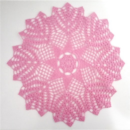 crochet doily tablecloth UK - Hand Crochet Doily, Medium Round Doily Cotton Doily, Lace Tablecloth, Table Topper, 16 inches