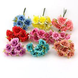 Mini silk flowers for crafts online shopping mini silk flowers for ouquet accessories 6pcs lot 25cm diy wreath craft flower decorative silk scrapbooking mini rose artificial flower bouquet for wedding de mightylinksfo