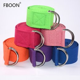$enCountryForm.capitalKeyWord UK - FBOON Adjustable Yoga Belt Sport Stretch Strap D-Ring Belts Gym Waist Leg Cotton Stretch Belt Fitness Yoga Cable Equipments