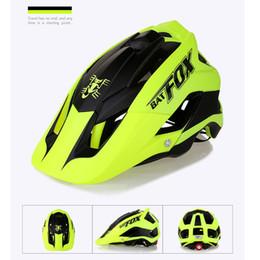 Men Cycling Helmets Canada - BATFOX cycling helmets Women Men EPS+PVC bike helmet ultralight Adult Outdoor 56-63cm cycling helmets road man
