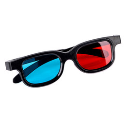 Tv Frame Plastic UK - Mayitr 1pair Red Blue 3D Glasses PC Plastic Movie 3D Glasses Frame For Dimensional Anaglyph TV Movie Game DVD