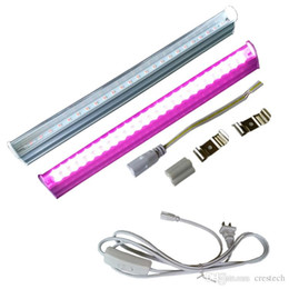 Light Integration NZ - SMD2835 LED Growth Light for Plant Integration LED T5 Tube 1ft 2ft 3ft 4ft Full Spectrum Pink Purple Color In Stock