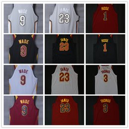 f7a286d90 CITY EDITION 2018 New milwaukee Basketball Jersey 23 james 9 dwyane wade 3 isaiah  thomas 1 Derrick Rose 5 JR smith Jerseys