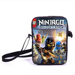 Chinese  Kids Cartoon Pattern Mini Shoulder Bag Primary School Students Lego Ninjago Messager Bag For Boy Girl Customize Pencil Case manufacturers