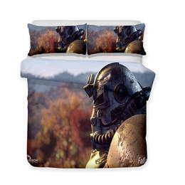 $enCountryForm.capitalKeyWord UK - Wholesale Luxury 3d Art Fallout 76 Teaser Vault Suit Print All Size Art Print Bed Sets 3 Piece Bedding Set