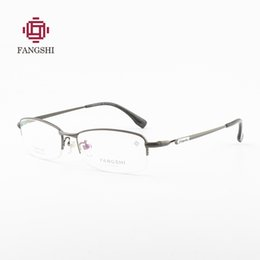 e39835fb93 Titanium Glasses Men Half Rim Optical Frame Spectacle Wide internal spacing Glasses  Men Nerd Slim Light Eyeglasses  F88007
