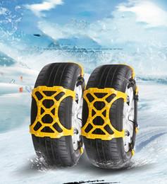 Winter Snow Suits Australia - 6Pcs Set TPU Snow Chains Universal Car Suit 165-285mm Tyre Winter Roadway Safety Tire Chains Snow Climbing Mud Ground Anti Slip