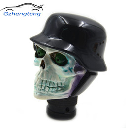Skull Lever Australia - Gzhengtong Car Gear Shift Knob Skull Shape Shift Lever Knob Head Resin Transmission Shift Knobs