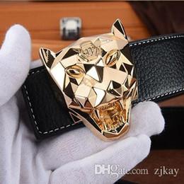ed86dffd7 Diseñador de lujo correa de leopardo Moda Popular P Belt Hot Brand para  mujer de calidad Cuero genuino Diseñador de piel de vaca Cinturones para  hombres ...