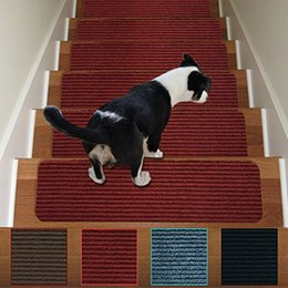Stair Carpet Treads Non Slip 1 Piece Indoor Stair Tread Rugs Mats Rubber  Backing