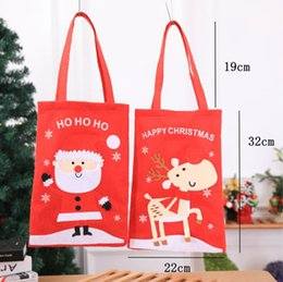 outdoor santa claus decorations NZ - 2 Style Christmas Cartoon Santa Claus Elk Gift Bag Shopping Bag 51*22cm Outdoor Christmas Shopping Hand Bag Decorations Drop Shopping