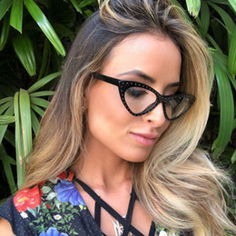 896f9d64ac Foreign trade fashion cat s eye flat light mirror Tide willow nail women s  glasses can match myopia Amazon hot sell