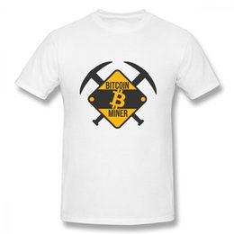 Tee Shirt Designs For Sale Australia - For Male Bitcoin Miner T Shirt S - 5xl Camiseta Plus Size Hot Sale New Arrival Top Design Round Neck Tees