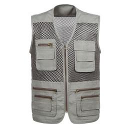 $enCountryForm.capitalKeyWord Canada - 2018 Summer Mesh Men's Sleeveless Jacket Men Vest Plus 5XL With Many Hidden Pockets Vest Waistcoat For Men Photographer Vests