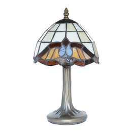 Baroque Paintings Australia - Tiffany-Style Table Lamp Stained Glass Baroque Hand Crafted Accent Bedside Light