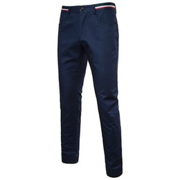 Vente en gros Nouveau Design Hommes Pantalons Décontractés Élastique Polyester Mince Pantalon Pantalon Droite Costume Pantalon De Mode De Mode Noir Pantalon Maigre Hommes