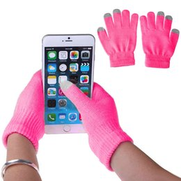touch screen wrist Australia - Newly 1 Pair Unisex Winter Warm Capacitive Knit Gloves Hand Warmer For Touches Screen Smart Phone S1025