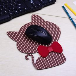 Cheap Mini Laptops NZ - Gaming mouse pad computer edged mouse pad laptop cheap mini gaming support wrist comfortable creative cat