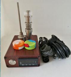Quartzo Titanium portátil ENAIL Dab elétrico unha PID Controle de Temperatura E Kit de unhas cera vaporizador 14 18MM óleo dabber caixa de vidro bong venda por atacado