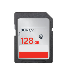 Chinese  2018 Brand New16GB 32GB 64GB 128GB Class 10 Big SD 80MBs Memory Card For Shoot Camera Camcorders manufacturers