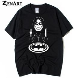$enCountryForm.capitalKeyWord Australia - Cartoon Ozzy Osbourne Eating a Bat knife and fork Cross Logo man boys o-neck plus size short-sleeve T-shirt