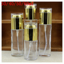 acrylic water glasses Australia - Transparent Emulsion Glass Packing Bottle Essence of Spray Bottle Bright Skin Water Bottles Gold Acrylic Pure Dew Bottle