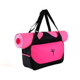 Ingrosso Sacchetto di stuoia di yoga fitness sport bagagli bagagli di stoccaggio di yoga abbigliamento zaino pad sacchetto impermeabile