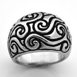 $enCountryForm.capitalKeyWord NZ - Fanssteel STAINLESS STEEL MENS women JEWELRY swirl flower pattern ring fashion ring GIFT FOR BROTHERS sisters FSR08W82