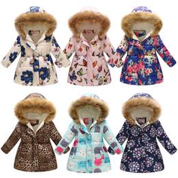 $enCountryForm.capitalKeyWord NZ - Hot Sell 2018 Flowers Medium Long Winter Coat For Girls Cartoon Clothing Big Girls Printed Cotton Padded Jacket With Fur Hoodie