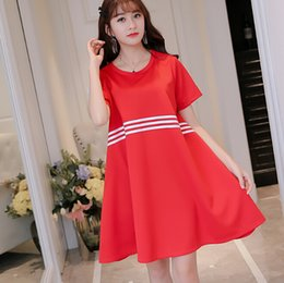 bcece6323cb Korean Summer dress women clothing bodycon dress cute slim short sleeve  parchwork black red dress fashion Vestidos