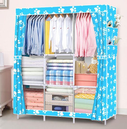 ShoeS cabinetS online shopping - Hot Home Storage Organization Storage Holders Racks Wardrobe DIY Non woven fold Portable Storage Cabinet