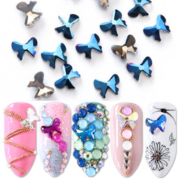 $enCountryForm.capitalKeyWord NZ - 10pcs Rhinestones For Nail Crystal Bow Design Strass Nail Art Decoration Flat Back Stones Gem 3D Manicure Charm Jewelry JI866