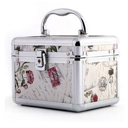 $enCountryForm.capitalKeyWord NZ - Women Professional Aluminum Makeup Case Portable Travel Jewelry Train Case Cosmetic Organizer Box With Mirror Beauty