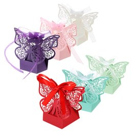 20pcs lot wedding candy boxes with ribbon butterfly decor for birthday wedding banquet kindergarten bridal shower party supplies