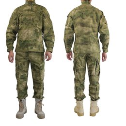 Chinese  Outdoor Army Uniform Camofluage Tactical Atacs A-tacs FG Camo Durable Shirt & Pants Army Combat Coat and Trousers manufacturers