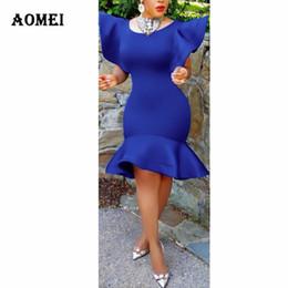 China Women Sexy Slim Cloak Dress Ruffle Ladies Fashion Swing Body con Tunics O Neck Tight Robes Party Summer Clubwear Clothes Dresses supplier body slim dresses suppliers
