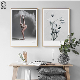 Painting ballet dances online shopping - Nordic Art Posters and Prints Girl Wall Art Canvas Painting Pictures For Living Room Ballet Dance Artwork Bedroom Decor