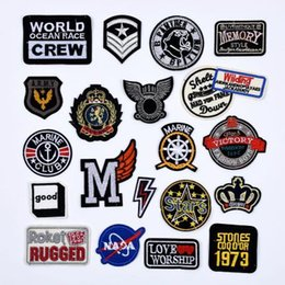 EmbroidEry clothEs stickErs online shopping - Customized Embroidery Patches Clothing Pastes Hat Badge Pant Trouser Stickers Wallet Bag Star Patches for Jacket Coat DIY Patches