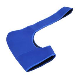 Chinese  Adjustable Breathable Gym Sports Care Single Shoulder Support Blue Brace Guard Strap Wrap Belt Band Pads Black Bandage Men&Women manufacturers